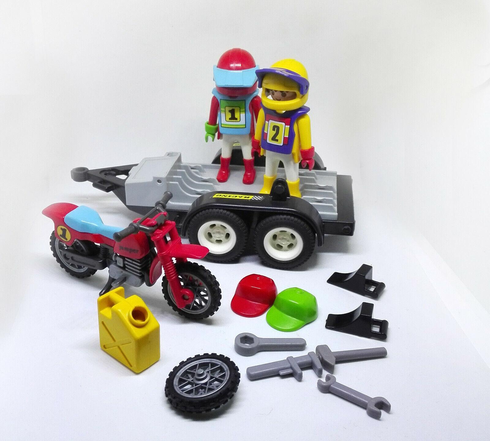 Playmobil 3754 jeep moto remorque collection racing motocross enduro au choix