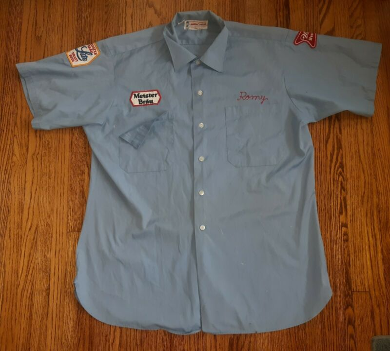 Meister Brau/Miller/Buckeye Brewing Company Beer Driver Work Shirt TOLEDO OHIO