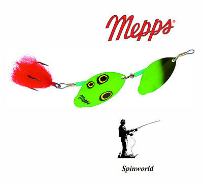 Mepps Tandem GREEN  2 blades The Best spinner for Pike adittional13 g. jig