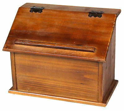 New Vintiquewise Old Style Wooden Podium Recipe Box, QI003091