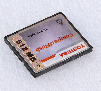 512 MB TOSHIBA COMPATTA FLASH SCHEDA CF MEMORY CARD 512MB THNCF512MBA #18