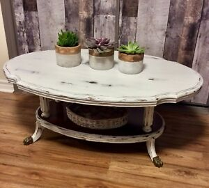 Hardwood Shabby Chic Coffee Table- Basse