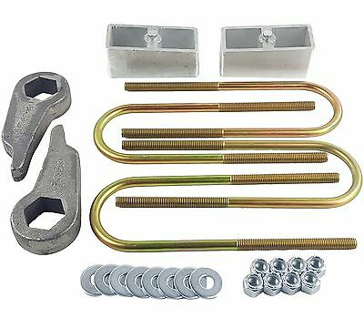 "Lift Kit Cast Torsion Keys 2"" Aluminum Blocks & Ubolts For 1998-2011 Ranger 4x4"