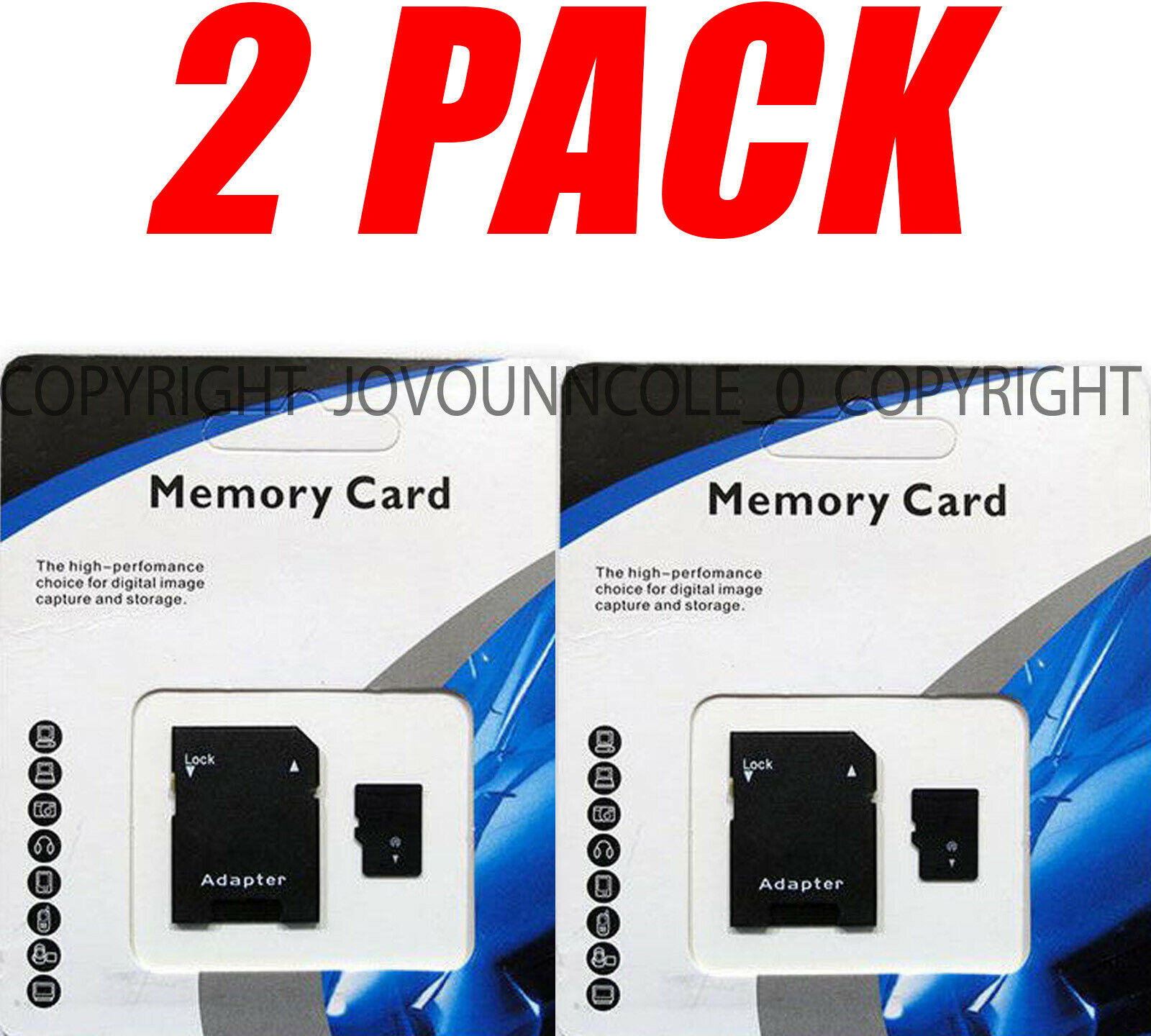 2 Pack 1TB micro MEMORY CARD Class 10 TF 1024GB XC Storage F