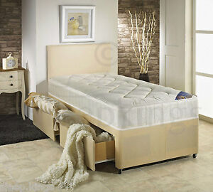 3ft single divan bed cream with quilted mattress storage for 3ft divan bed with storage