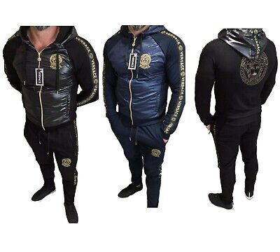 Men European Designer Versace Tracksuit Jacket Pants Long Sleeve M L XL XXL 3XL