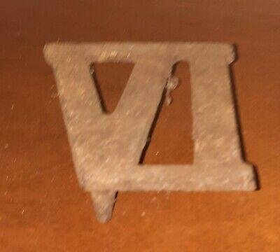 Victorian Cast Iron Clock Roman Numeral VI (6 or Six)