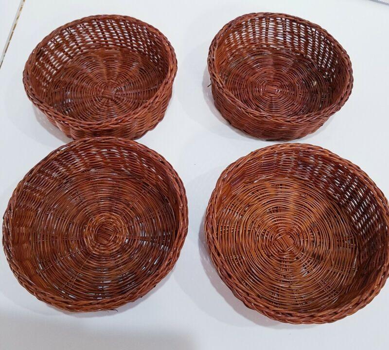 Wicker bowls Liners, Ramekin Liners,  wicker decor bowls, display bowls, 4 pk