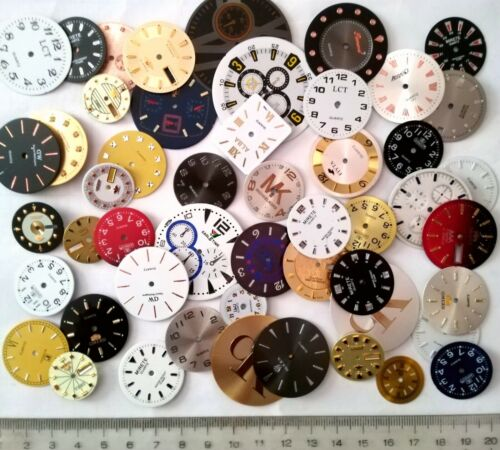 50pcs Steampunk Watch Faces Dials Vintage and Old Stock Industrial Altered Art