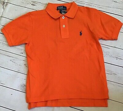 NWT Boys RALPH LAUREN POLO Orange Shirt Size 5