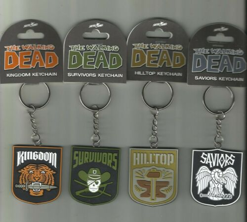 """SKYBOUND  EXCLUSIVE  """"WALKING DEAD"""" FACTIONS KEY CHAIN SET!!!"""