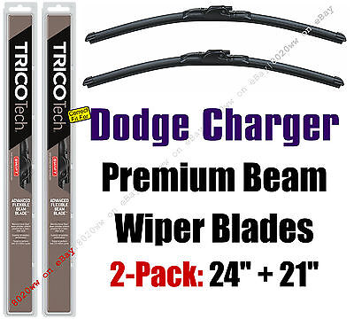 Wipers 2-Pack Premium Beam Wiper Blades fit 2011+ Dodge Charger - 19240/210