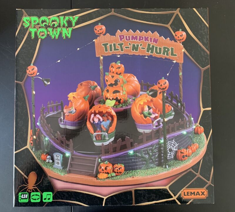 LEMAX SPOOKY TOWN TILT N HURL HALLOWEEN CARNIVAL RIDE! NEW! IN HAND SHIPS FAST!!