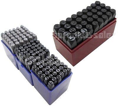 144pc 14 316 532 38 Size Letter Number Stamp Set Hardened Steel Metal