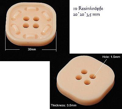 10 Kunstharz Resin Knöpfe Jackenknopf Kleiderknopf Hosenknopf Button Knopf farbe