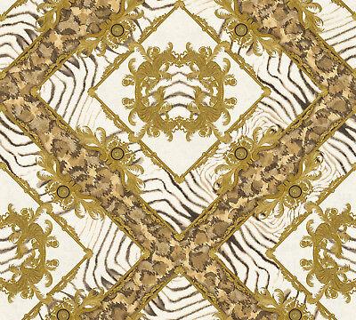 Versace 3 Home Wallpaper 349043 Cream Brown Ornament Rhombus System Solution