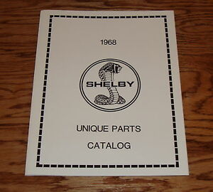1968 Ford Mustang Shelby Cobra Unique Parts Catalog 68 | eBay