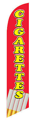 Cigarettes Feather Banner Swooper Flag Kit- Includes Pole Kit Spike