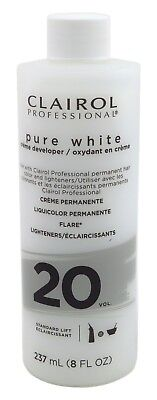 - (2 Pack) CLAIROL PURE WHITE 20 CREME DEVELOPER STANDARD LIFT 8 Ounce