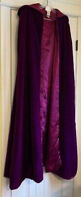 Mens Victorian Vampire Costume (Vampire Adult Costume Velvet Burgundy Victorian Cape Halloween Made in)