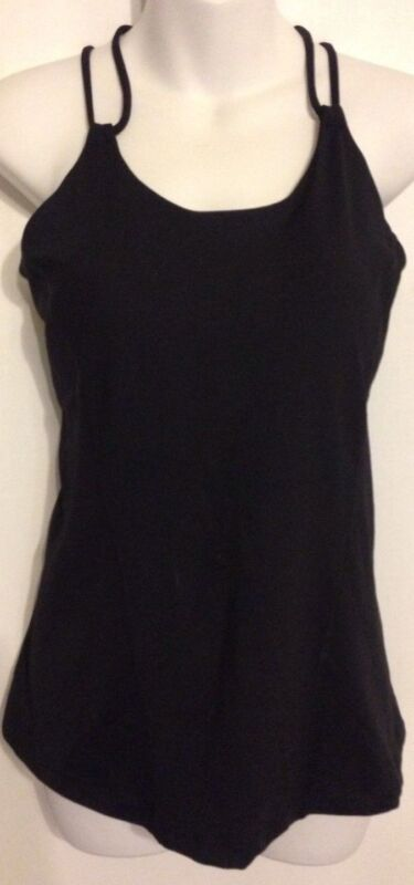 CAbi Size Large Power Tank Black Built in Bra Nylon Blend NWT $79 FREE SHIPPING