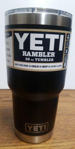 YETI BLACK Rambler 30 oz Vacuum Insulated Tumbler w/MagSlide
