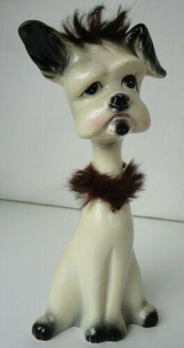 "Vintage  RIES Japan Ceramic Figurines 10½"" tall  ""SAD PUPPY"""
