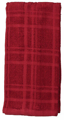 Set of 2 Kay Dee Designs Kitchen Basics CINNABAR RED Cotton Terry Towels