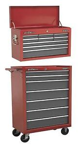 Sealey-16-Drawer-Tool-Storage-Top-Box-Chest-Roller-Cabinet-Roll-Cab-Toolbox