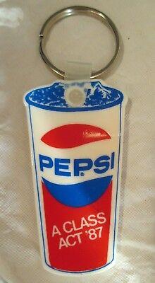 RARE VINTAGE 1987 PEPSI BURGER KING SOBER DRIVING FREE POP KEY FOB JUNE 1 AUG 31