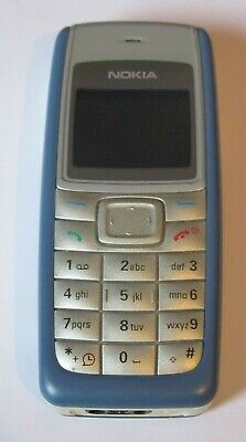Nokia 1110 - Silver/Blue (Unlocked) Mobile Phone + 90 day warranty REF:8085