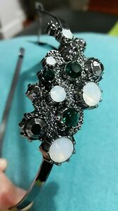 ♡♡♡ MIMCO CORAL CLUSTER ALICE Emerald Ivory unique HEADBAND Fascinator BNWT