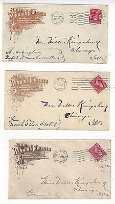 1899 Minneapolis Mn  Set Of Three  Advertising Winning Triplets  Lyceum Theatre