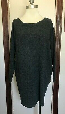 Acne Jeans Gray Blue Oversized Wool Sweater XS