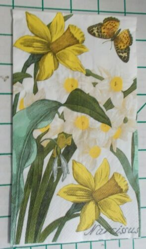 """Two Decorative Hostess Napkins for Decoupage """"Narcissus"""""""