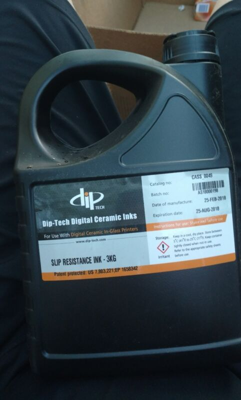 Dip-Tech Digital Ceramic Printing Ink CASS 0049 Slip Resistant Ink 3kg free ship