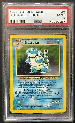 1999 Pokemon Game Blastoise Holo PSA 9 Mint Base Set Unlimited 2/102 Rare Card 2