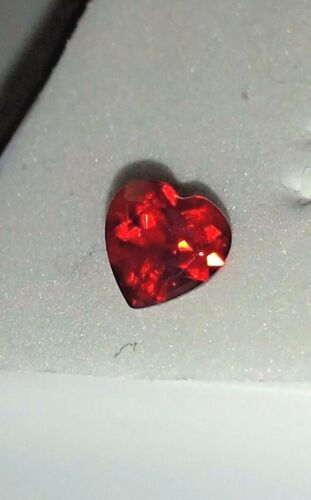 Red ANDESINE-LABRADORITE 6x6 mm Beautiful HEART CUT .60 Carat Jewel EMBER Glow
