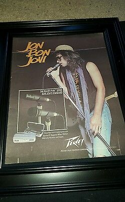 Jon Bon Jovi Rare Original Peavey Promo Poster Ad Framed