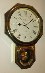 Disco Early 1980s HOWARD MILLER School House Wall Clock 621-248