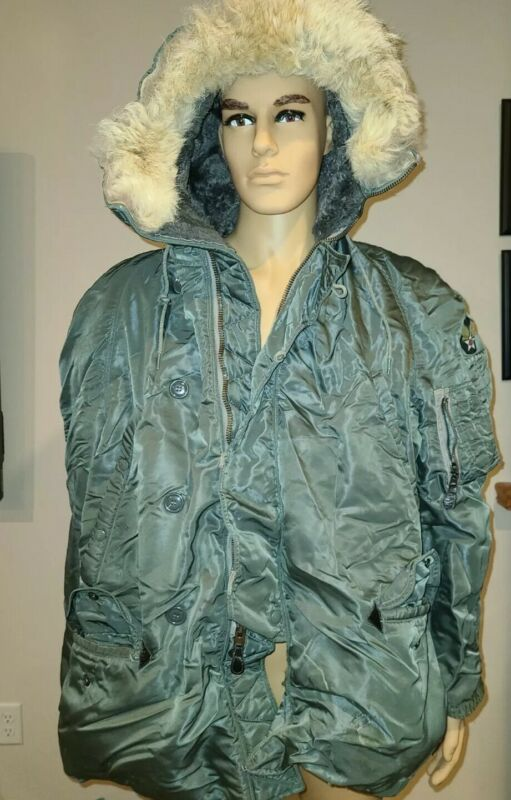Vintage US Air Force Military Parka Coat Jacket USAF