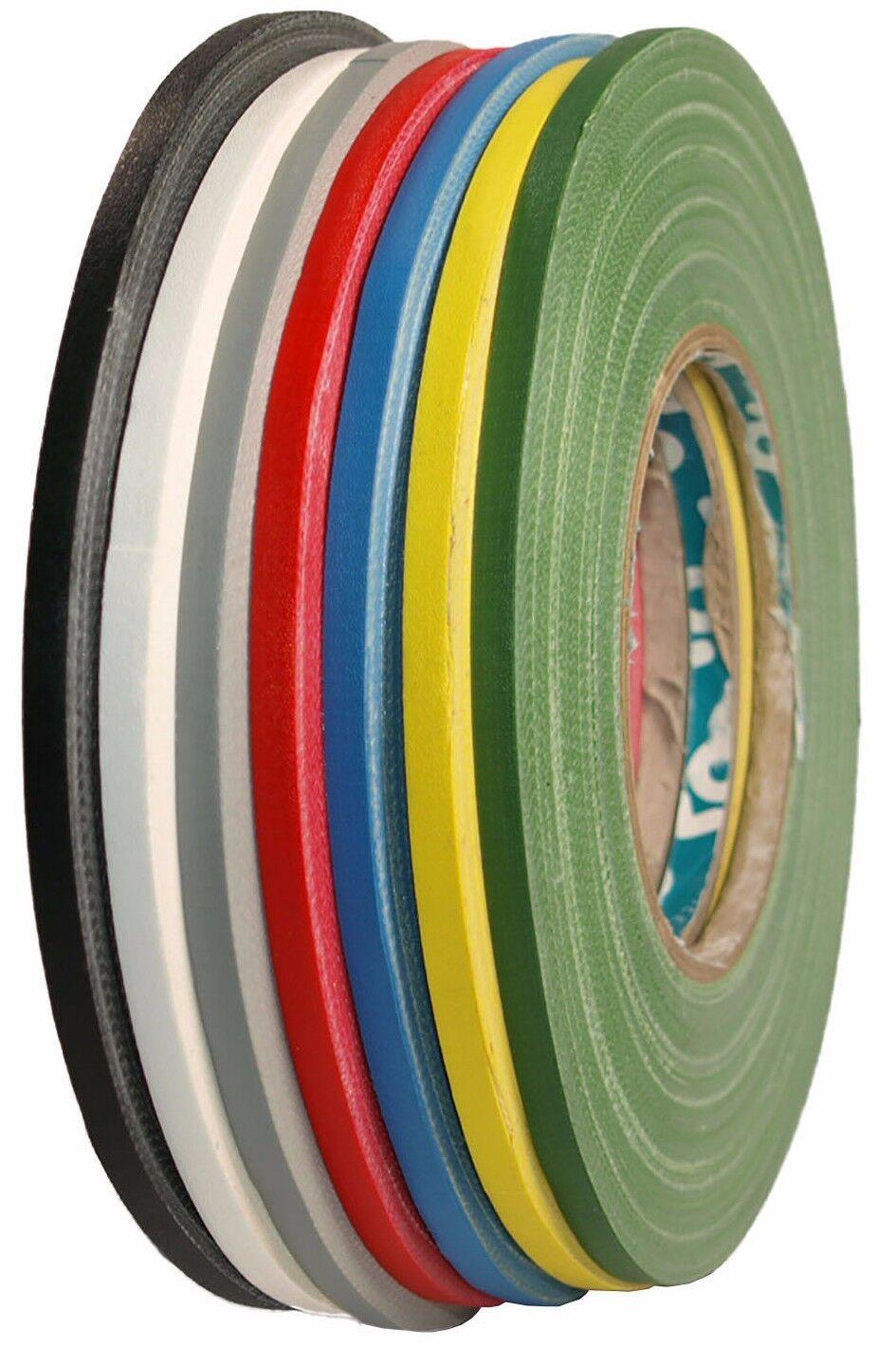 AT159 Gewebeband matt 12mm x 50m Gaffa® Tape Fine Line Klebeband schmal farbig