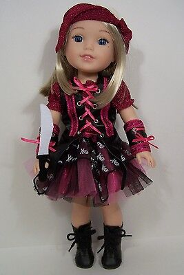 5pc PIRATE Halloween Costume Doll Clothes For AG 14 Wellie Wisher Wishers (Debs)](Ag Doll Halloween)