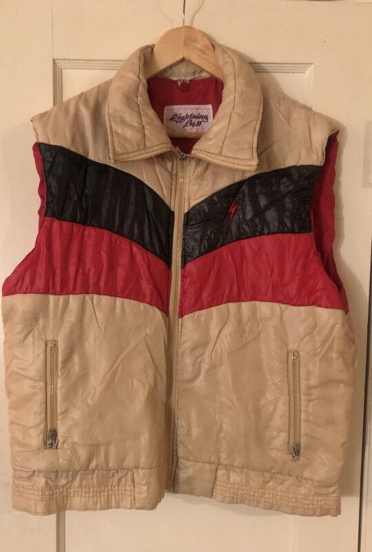 Vintage Lightning Bolt Surf Puffer Vest