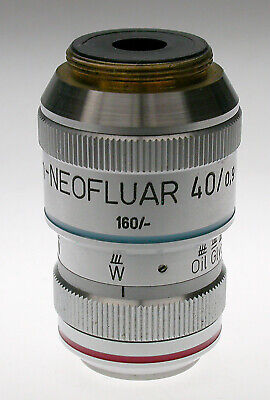 Zeiss Microscope Plan Neofluar 40x Multi-immersion Objective N.a. 0.9 Used