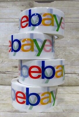 4 Rolls Official Ebay Branded Packaging Tape - Packing Shipping 2 X 75 Yards