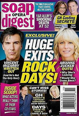 Arianne Zucker  Vincent Irizarry  Camryn Grimes March 13  2017 Soap Opera Digest