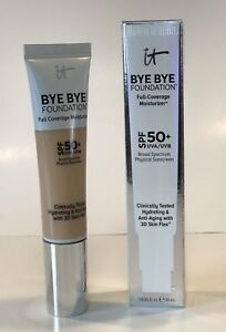 IT Cosmetics Bye Bye Foundation Full-Coverage Moisturizer MEDIUM TAN - BRAND NEW