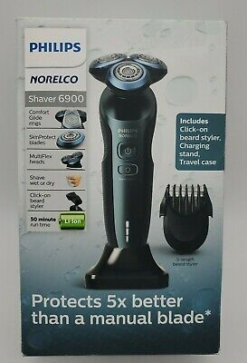 Philips Norelco 6900 Wet/Dry Electric Shaver S6810/82 - Savio Blue New Sealed