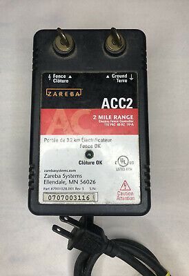 Zareba Model Acc2 2 Mile Electric Electrical Fence Controller Very Good Cond.